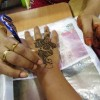 Getting Henna in Little India, Singapore