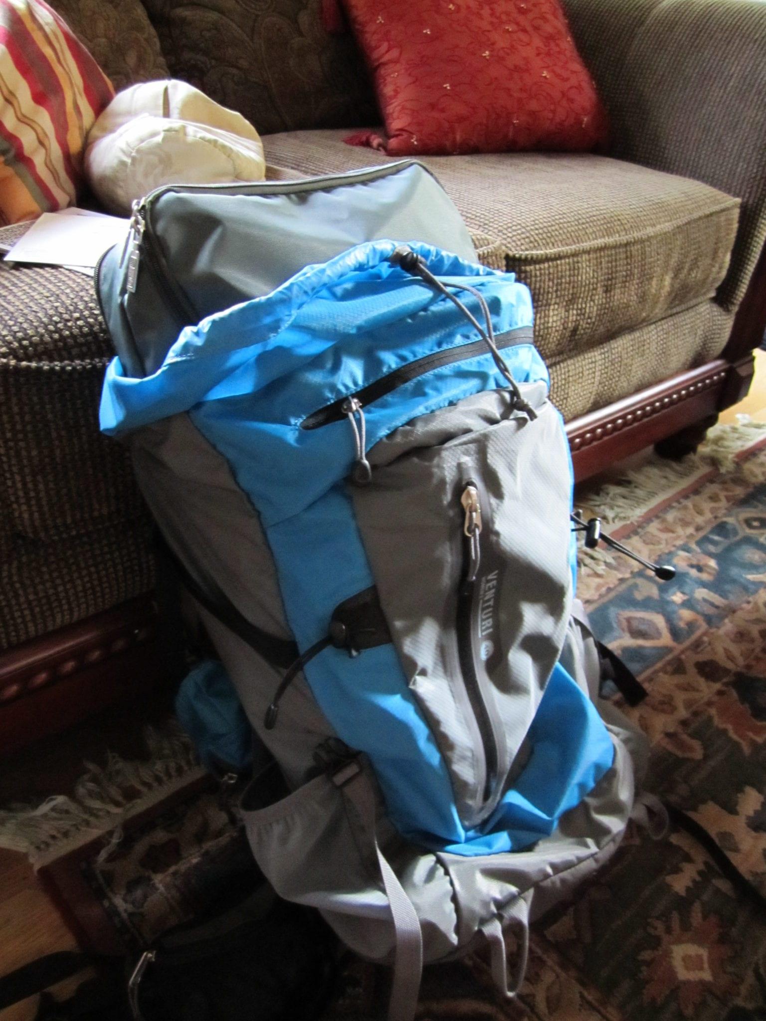 Spacepak in Backpack