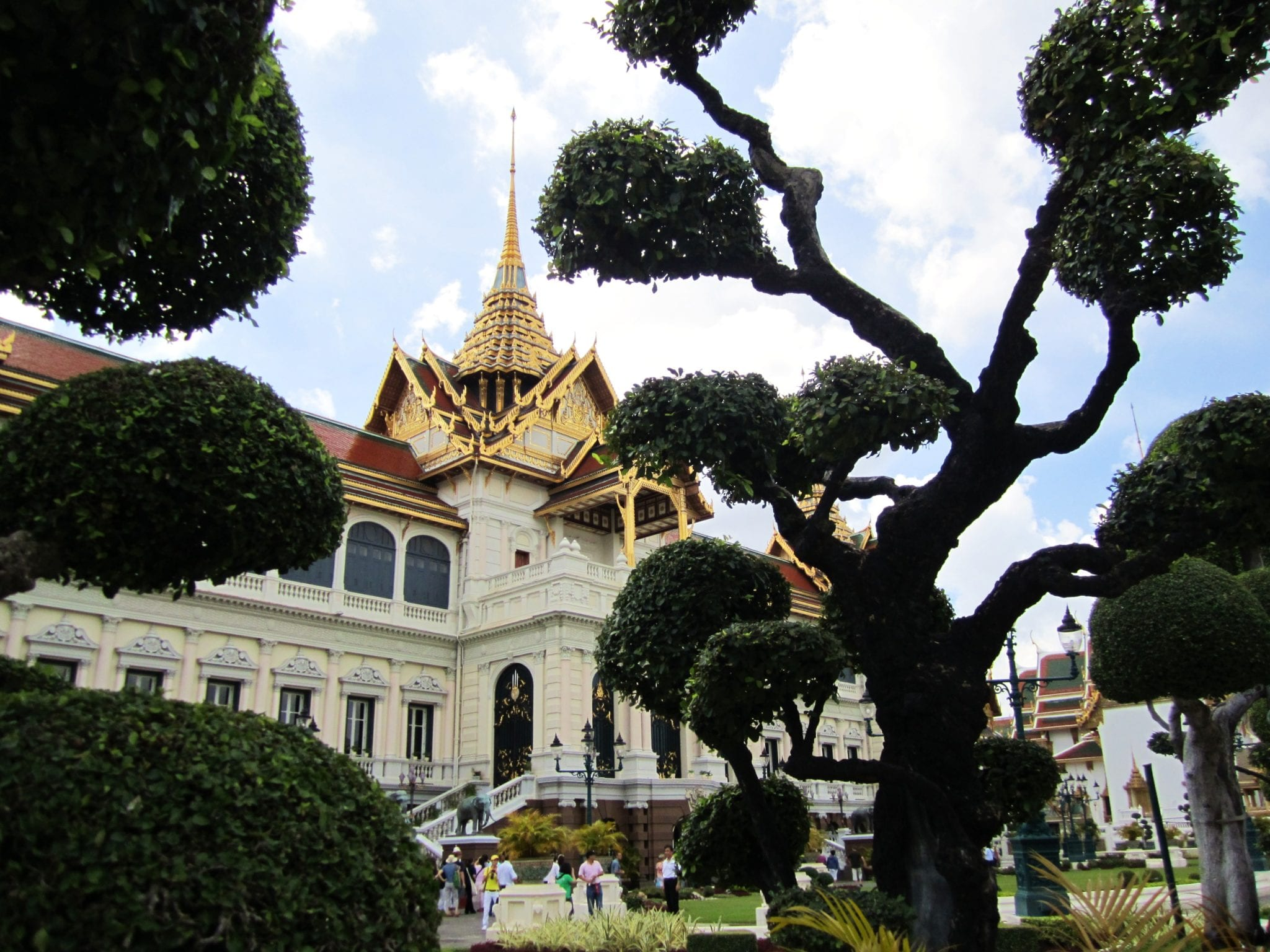 Grand Palace Through Trees