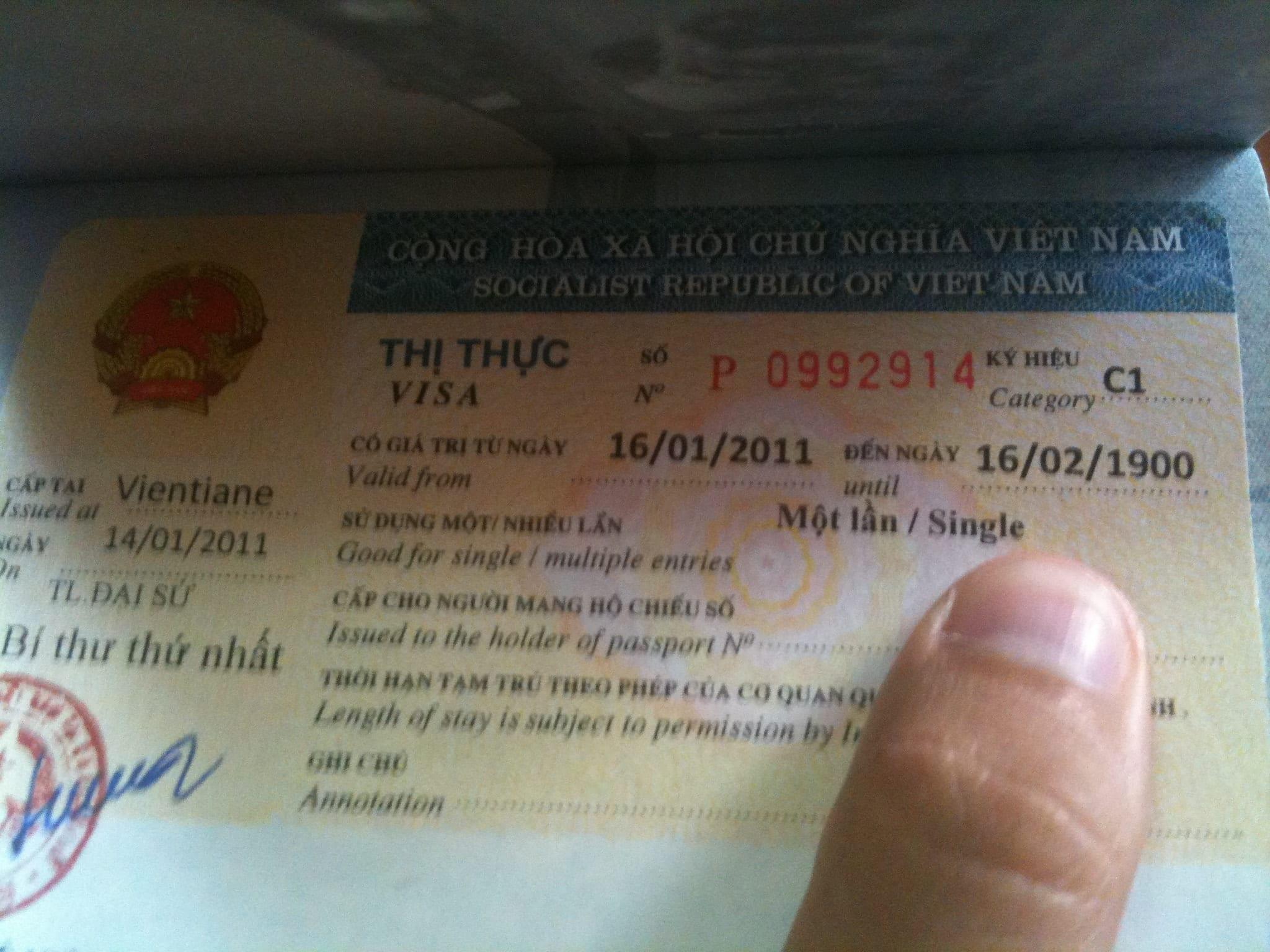 Kate's Vietnam Visa