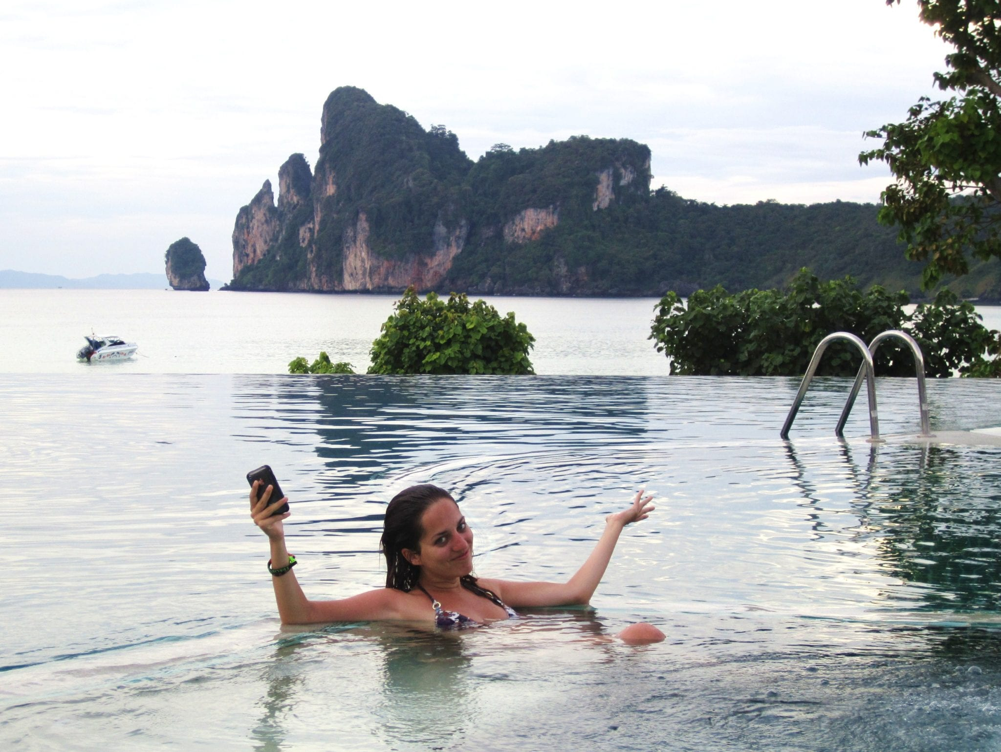 Kate in the Infinity Pool