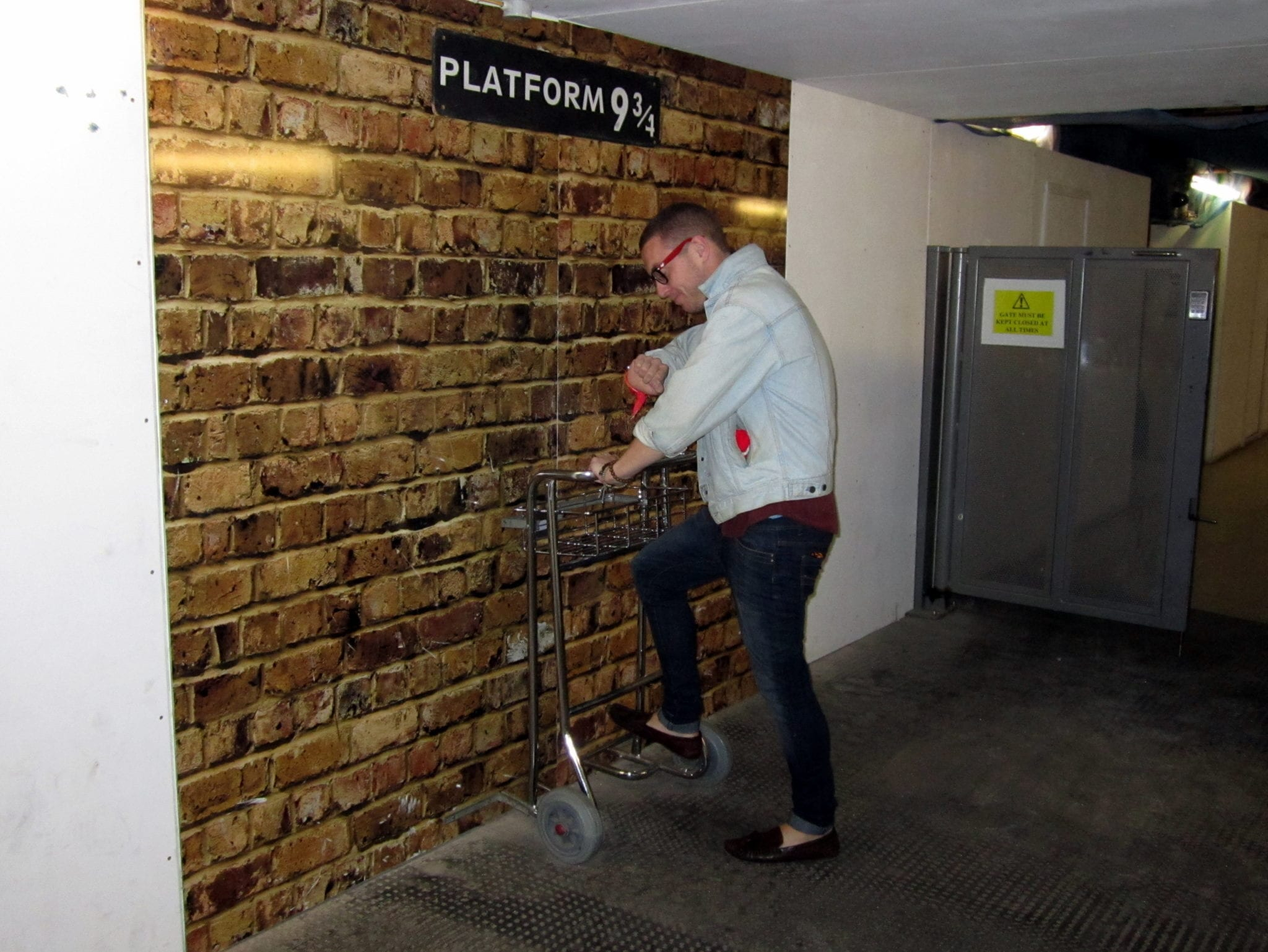 In the books, Platform 9 3/4 ...