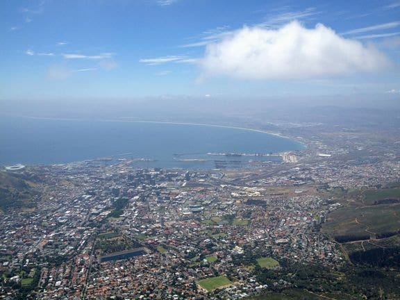 view from the top of table mountain cape town