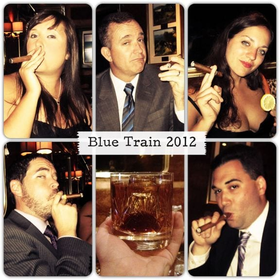 Cigars and Cognac on the Blue Train