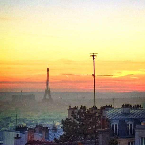 Eiffel Tower Sunset via Instagram
