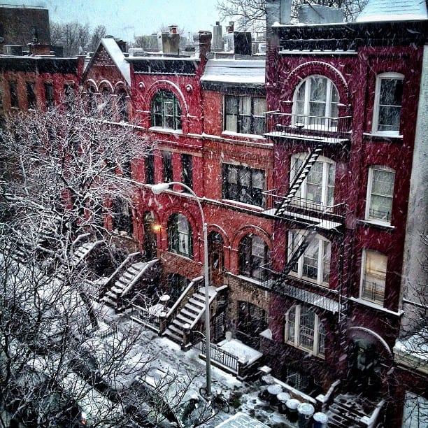 Snowy Harlem via Instagram
