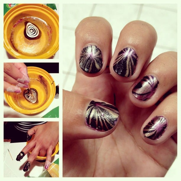 Marbled Nails via Instagram