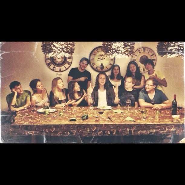 The Last Supper via Instagram