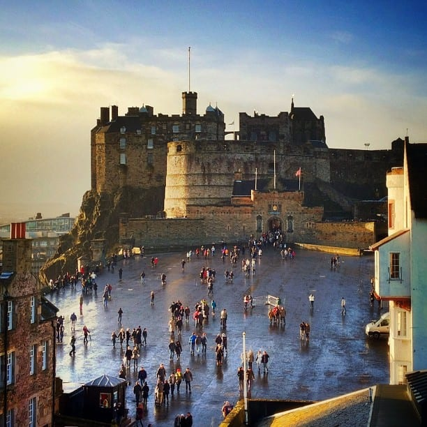 Edinburgh Castle via Instagram