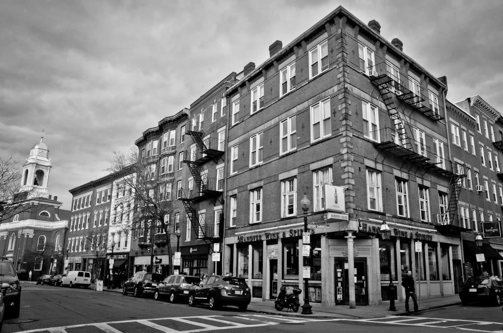 Boston's North End in Black and White