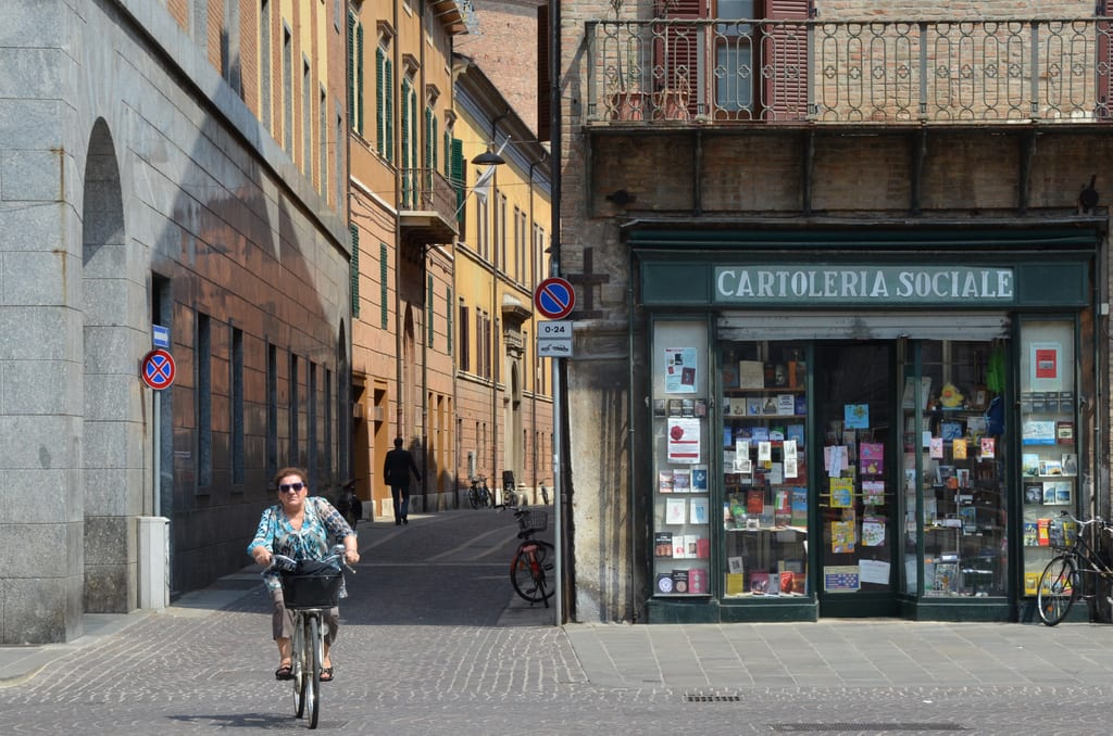 Bike Lady in Ferrara