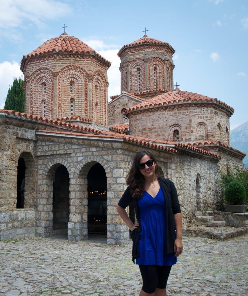 Kate at Sveti Naum