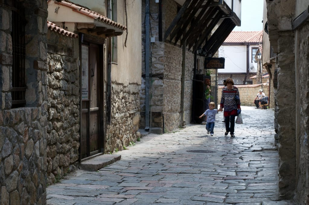 Grandmother and child in Ohrid