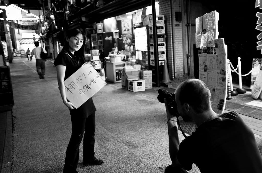 Posing in Tokyo