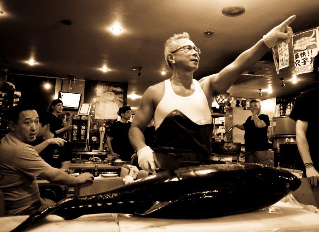 Japanese Muscle Man Fishmonger