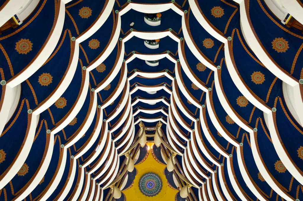Burj al Arab View from Spa Floor