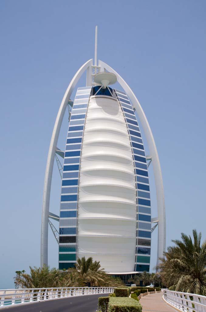 The Burj al Arab Hotel in Dubai