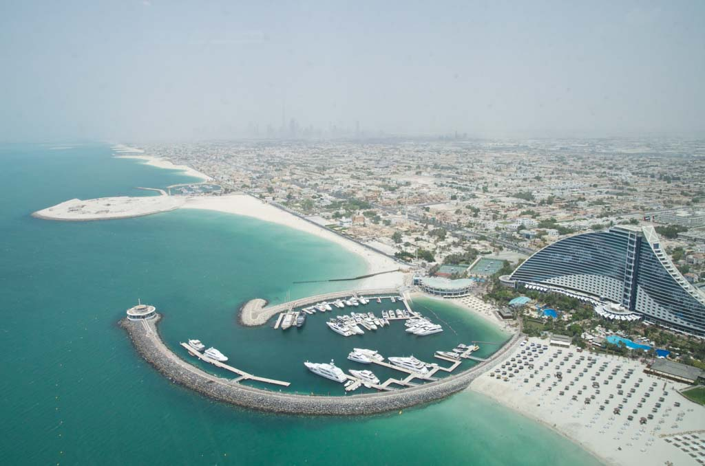 View from our hotel in Dubai
