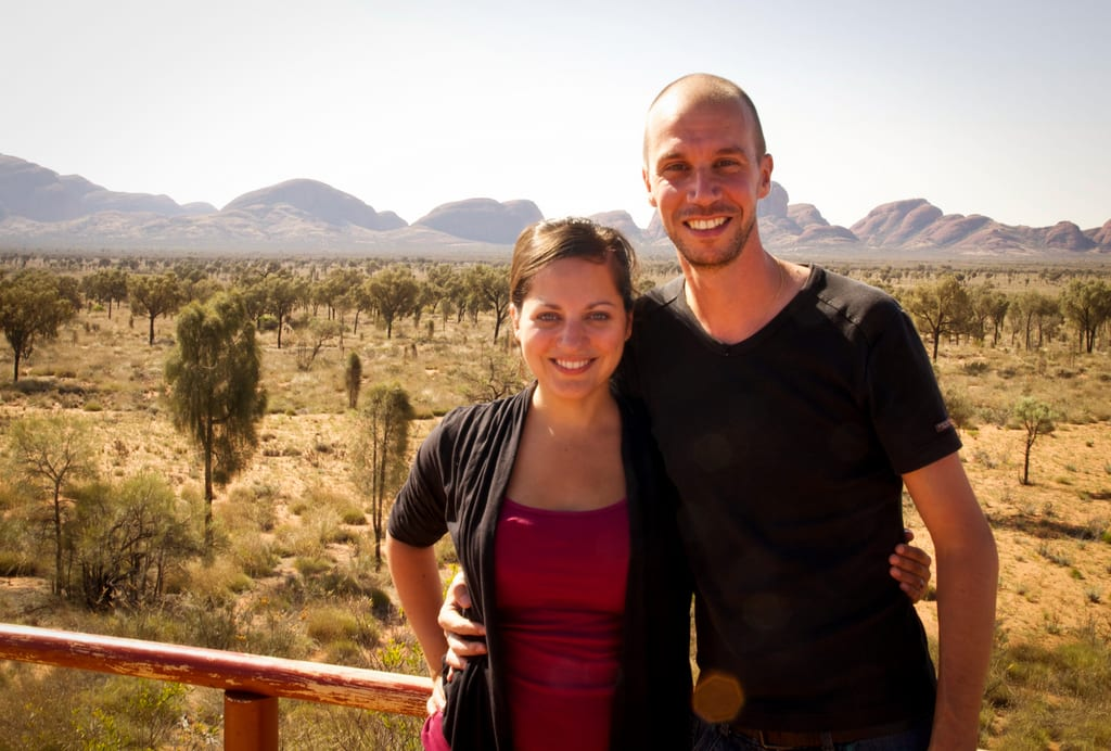 Kate and Mario at Kata Tjuta