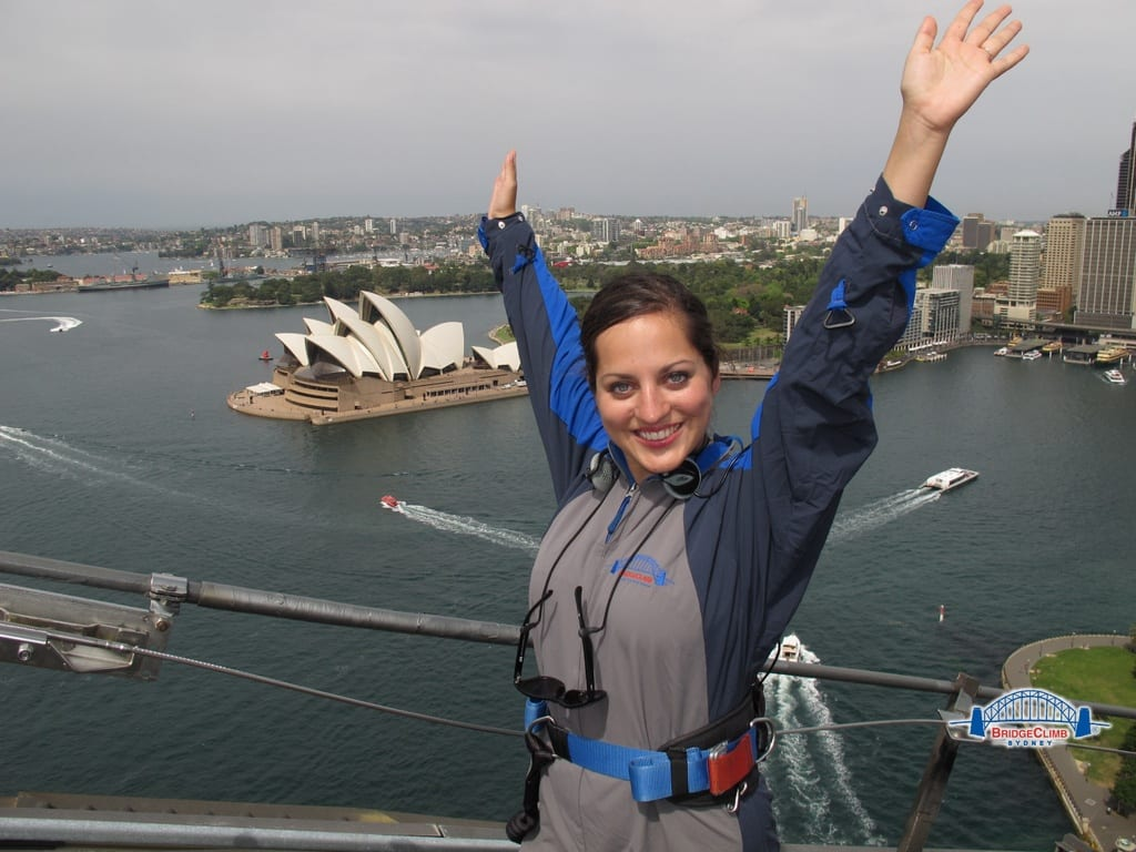 Kate on the Sydney Bridgeclimb
