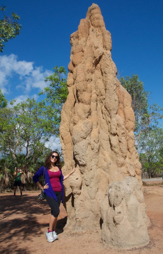 Kate and a Termite Mound