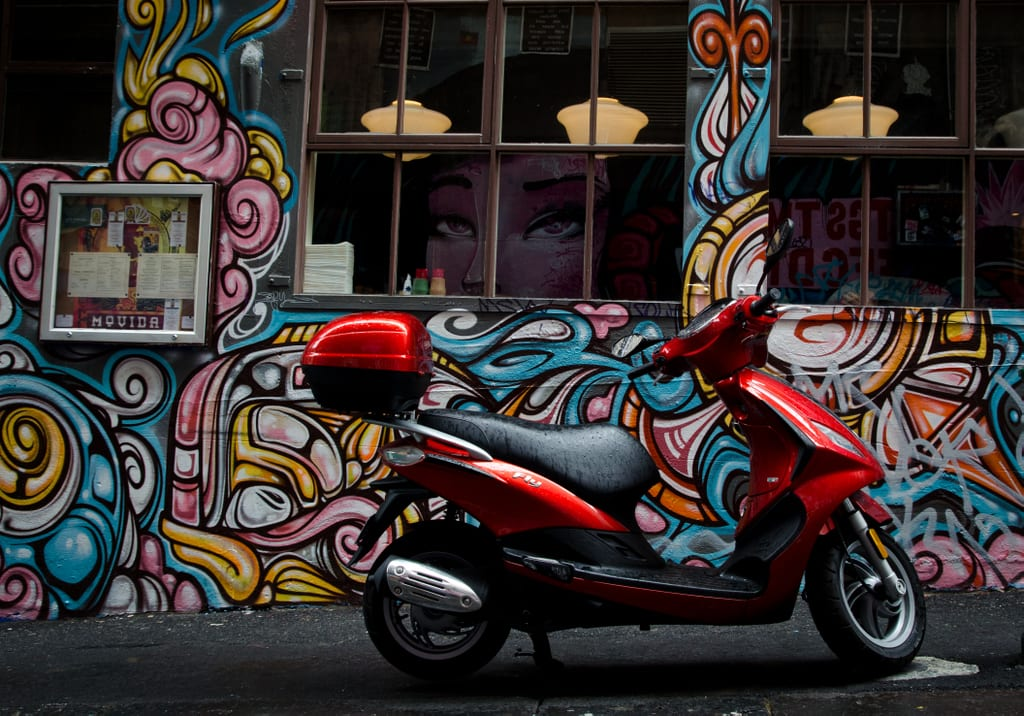 Graffiti Vespa