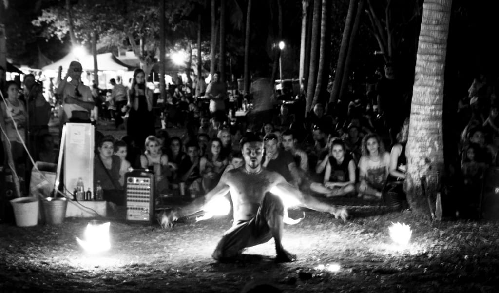 Fire Dancer Black and White