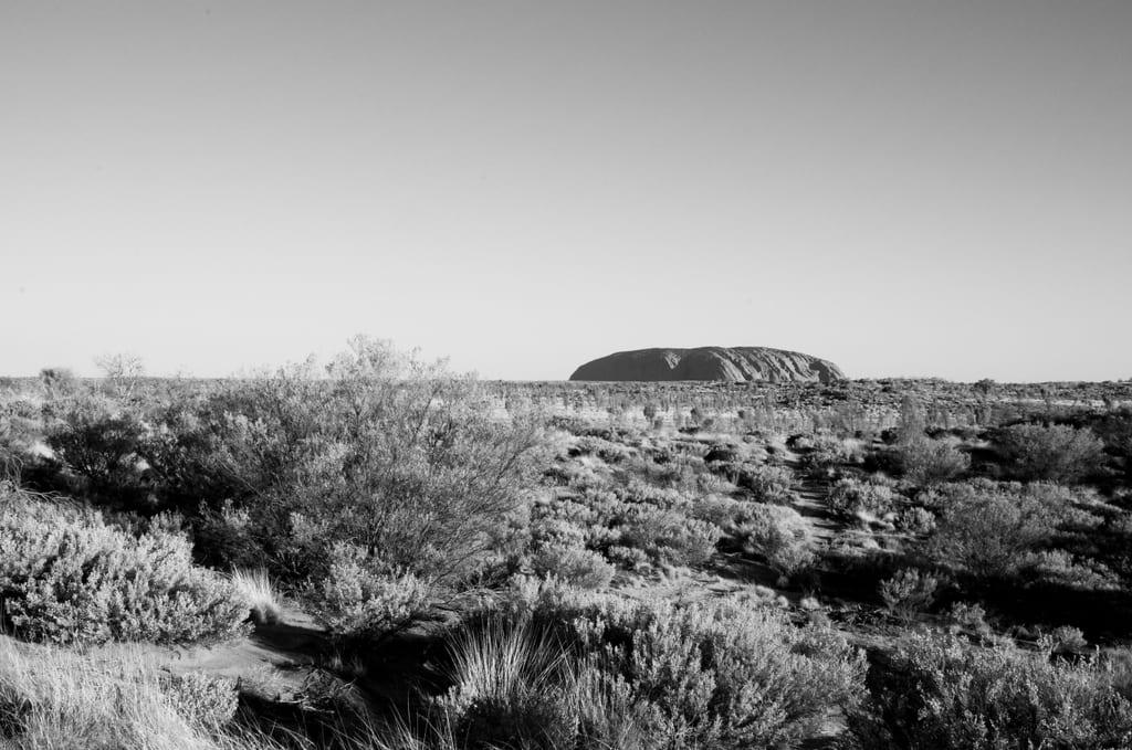 Uluru Black and White