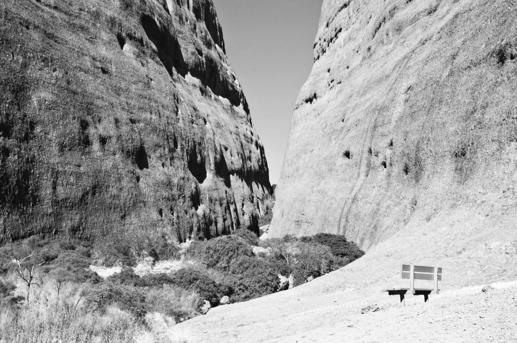 Walpa Gorge Black and White
