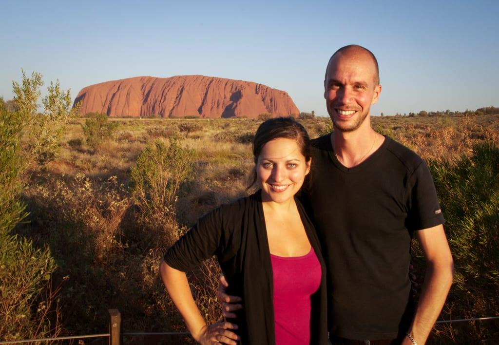 Kate and Mario at Uluru