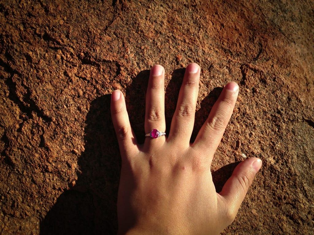 Kate on Uluru
