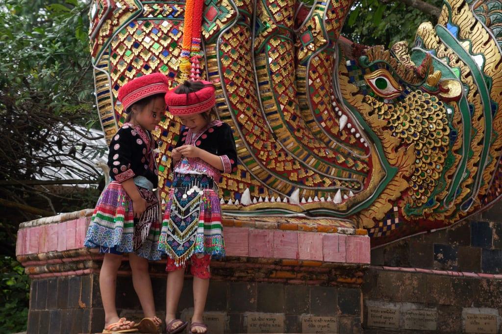 Little Girls at Doi Suthep