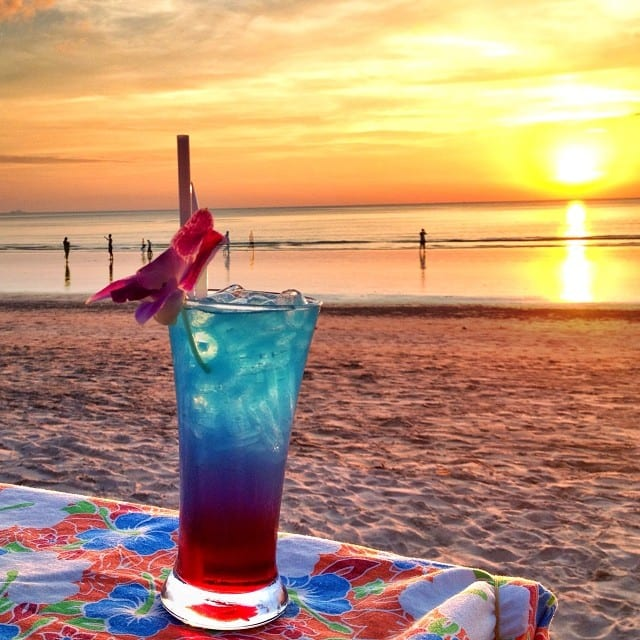Cha Ba Cocktail Sunset