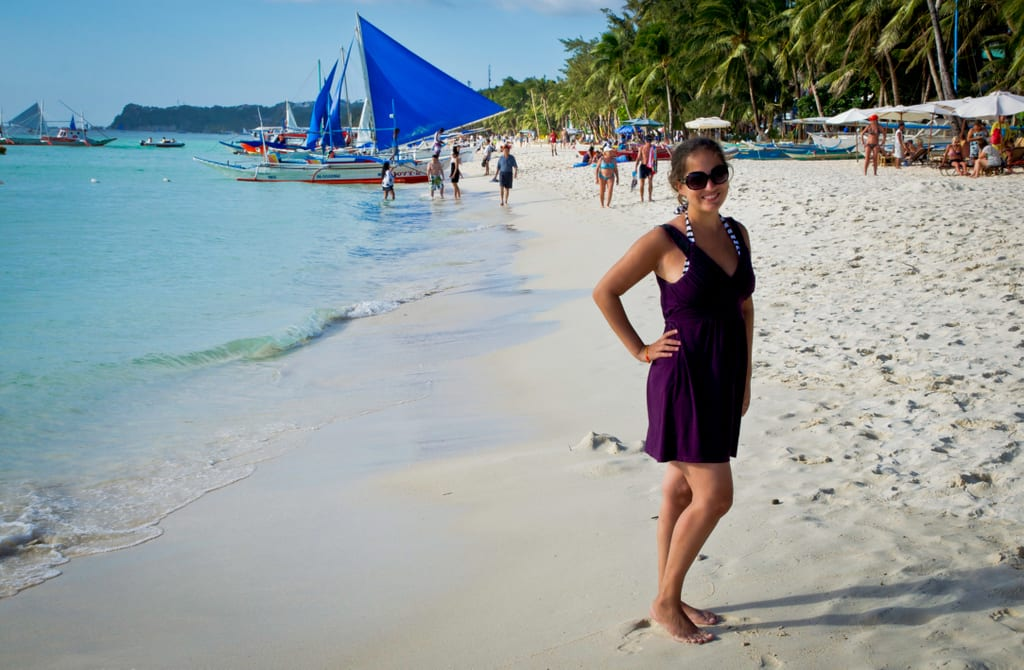 Kate in Boracay