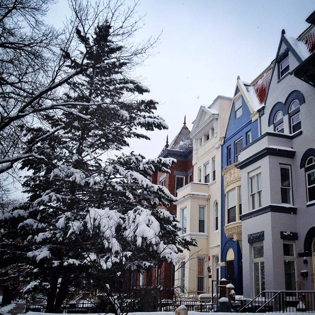Snowy Columbia Heights