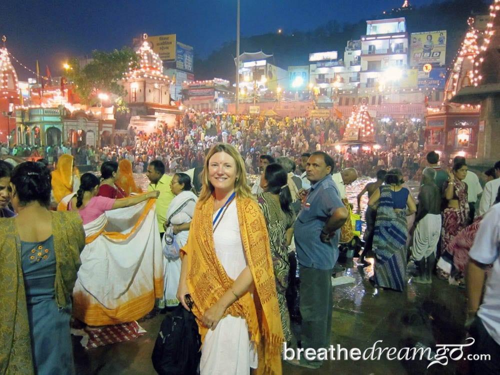 Mariellen at Kumbh Mela, India