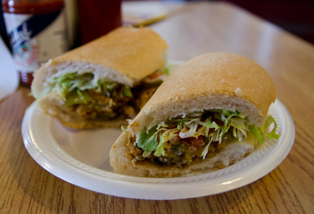 fried oyster po boy at magazine po boy shop in new orleans if you re ...