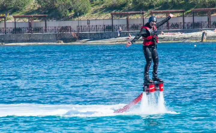 Kate Flyboarding  in Malta