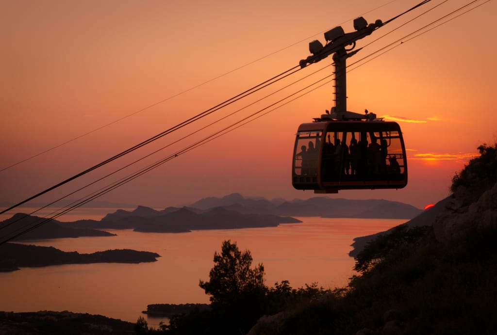 Dubrovnik Cable Car Sunset