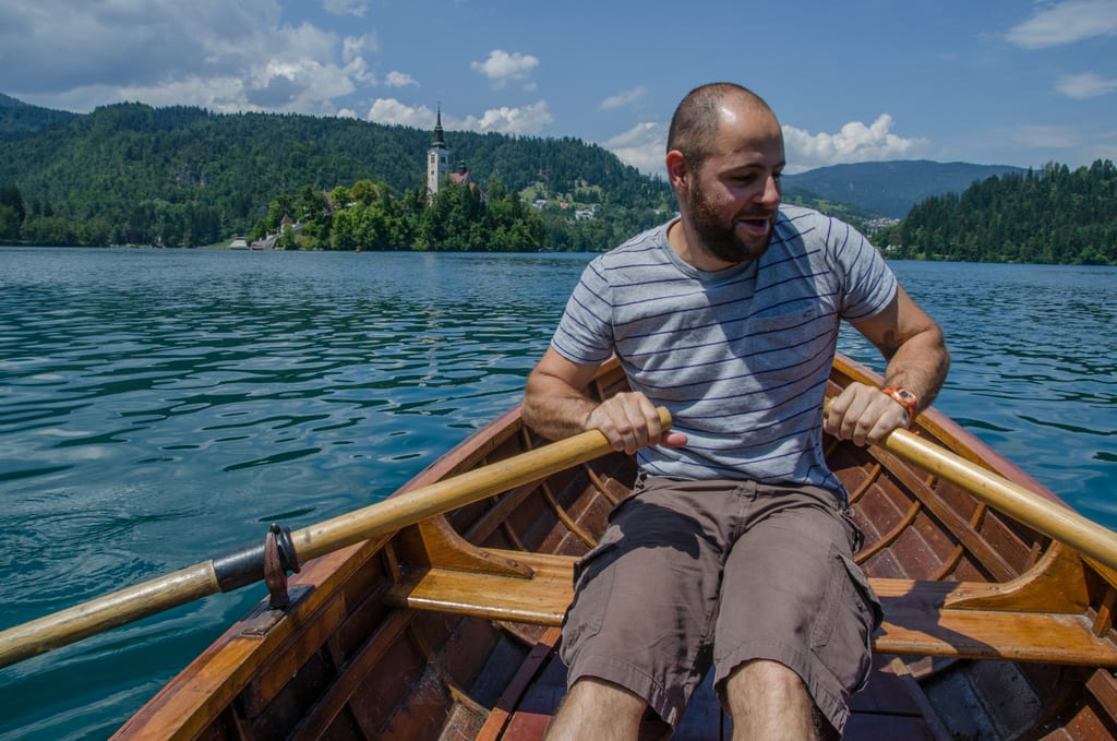 Peter on Lake Bled