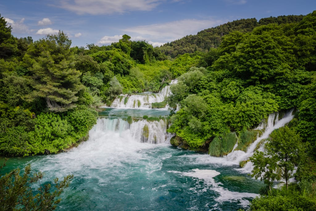 the waterfalls of krka national park croatia adventurous kate