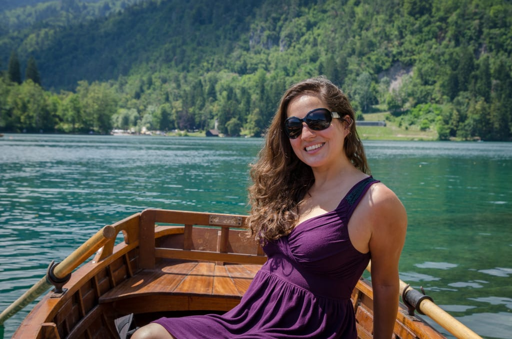 Kate on Lake Bled
