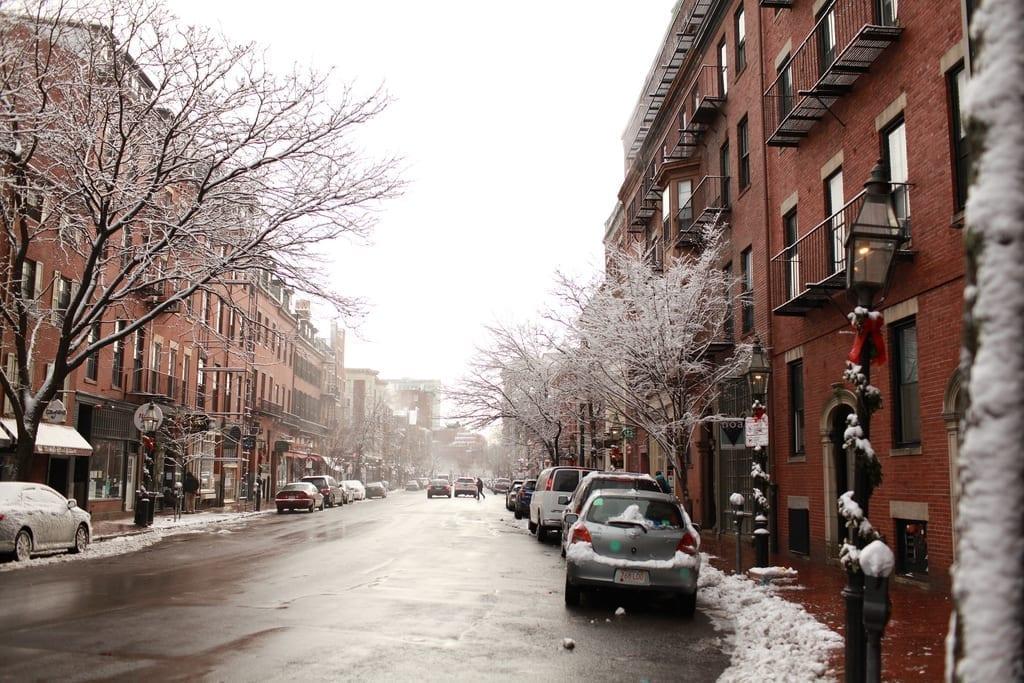 Winter in Beacon Hill, Back Bay, Boston
