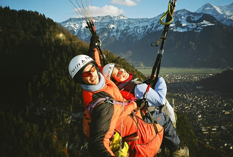 Kate Paragliding in Switzerland