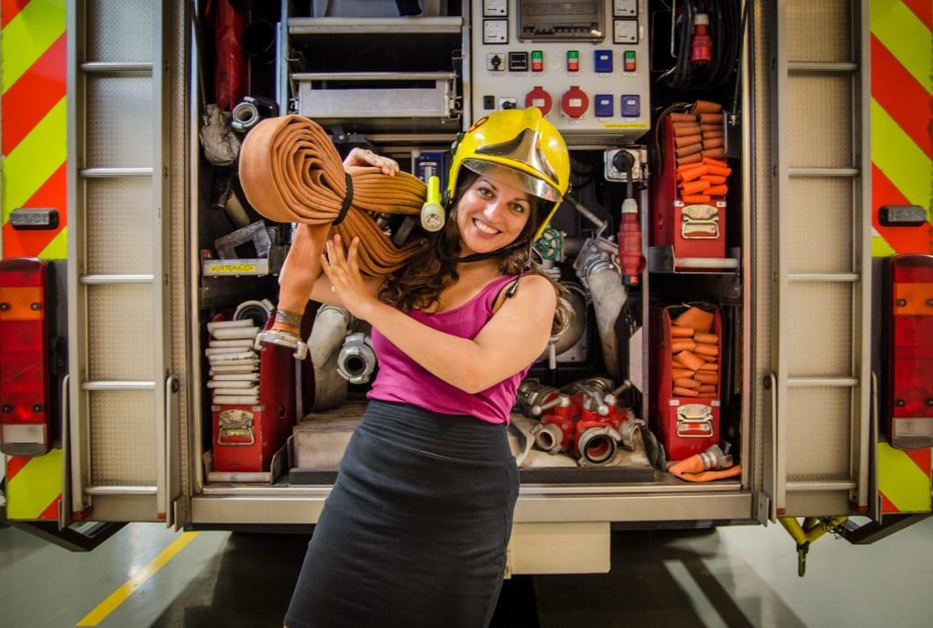 Firefighter Kate in Helsinki