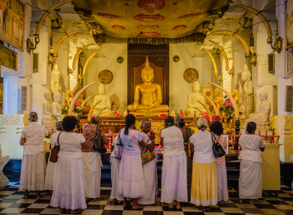 Women at Temple of the Tooth, Kandy