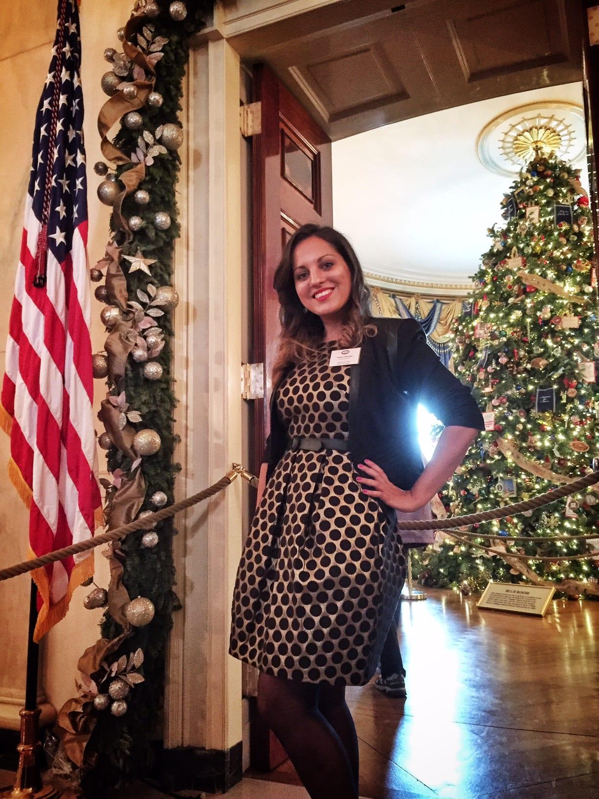 Kate at the White House at Christmas
