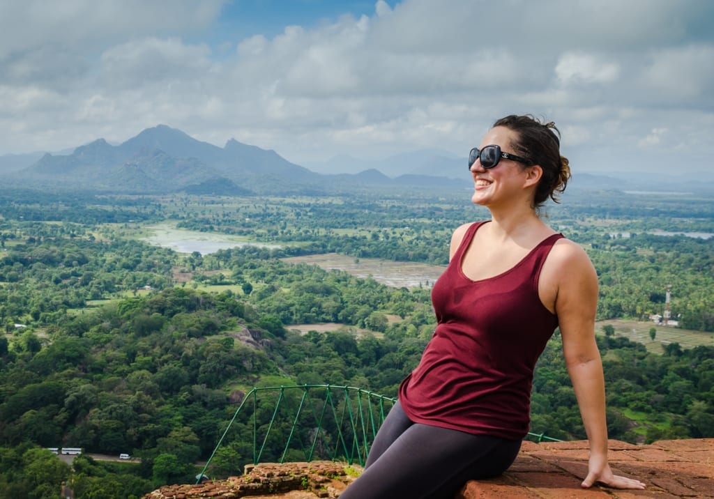 Kate at Sigiriya