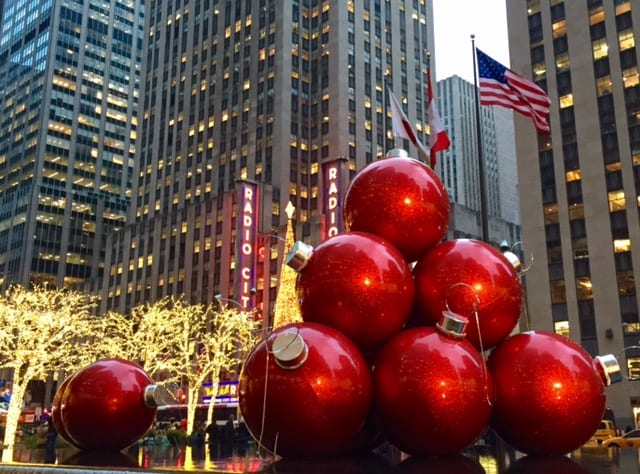 Christmas Balls - On Christmas In New York - Adventurous Kate : Adventurous Kate
