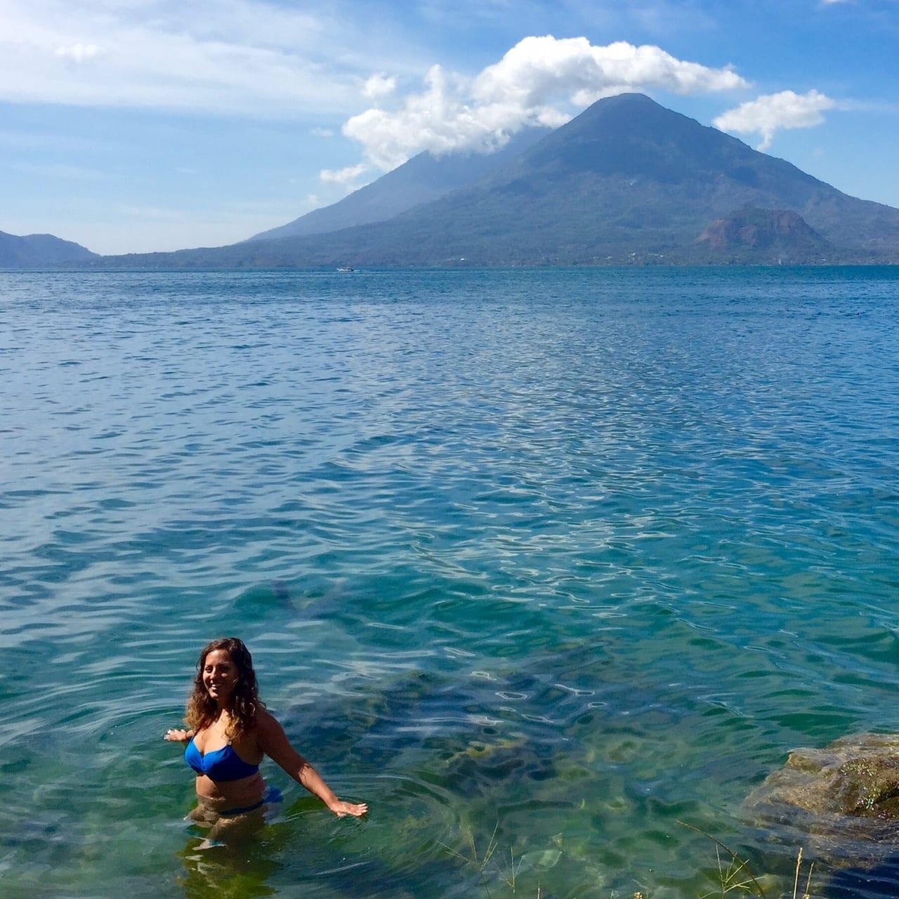 Kate in Lake Atitlan